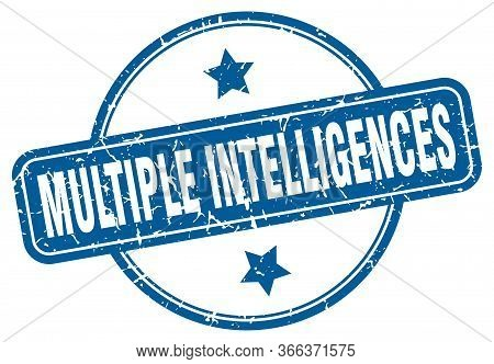 Multiple Intelligences Stamp. Multiple Intelligences Round Vintage Grunge Sign. Multiple Intelligenc