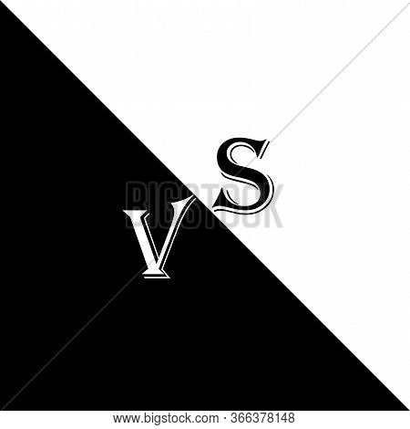 Versus Logo, Fight Icon. Image Of Confrontation In Sports, Fight, Fight, Sparring. Vector Illustrati