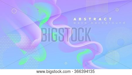 3d Vibrant Background. Pastel Music Shape. Color Futuristic Pattern. Fluid Gradient Motion. Flow Vib