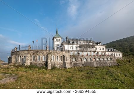 Ghost Parador Of Puerto Pajares Village In Asturias In The North Of Spain Mountain Pass At 1378 M Th
