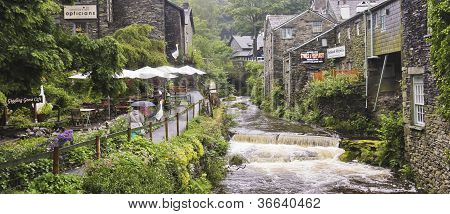 A Rainy Day In Ambleside, Cumbria, England