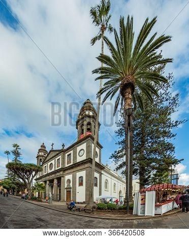 San Cristobal De La Laguna, Spain - Octouber 23, 2018: Cathedral Of San Cristobal De La Laguna. Old