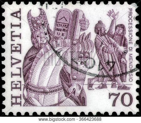 Saint Petersburg, Russia - April 30, 2020: Postage Stamp Issued In The Switzerland With The Image Of