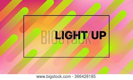 Funky Neon Blend Vector Background. Liquid Neon Bright Trendy Landing Page. Trendy Colorful Vibrant