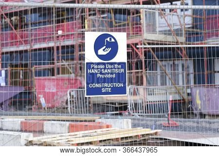 Construction Site Hand Sanitiser Sign Due To Covid-19