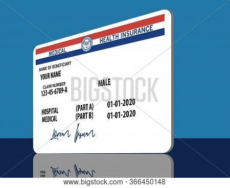 Here Is A Mock, Generic, 2020 Medicare Health Insurance Card. It Does Not Use The Word Medicare On T