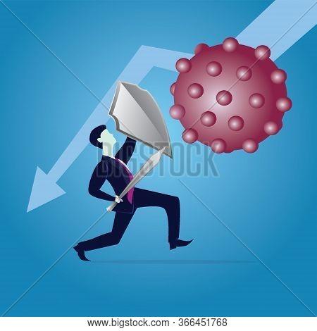 Fighting Covid-19 Coronavirus Concept, Business Risk Prevention From Covid Virus Outbreak Concept, B