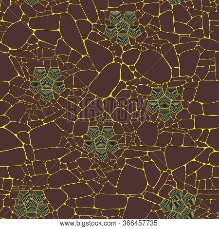 Vector Decorative Abstract Texture Of Magma Surface In Cracks