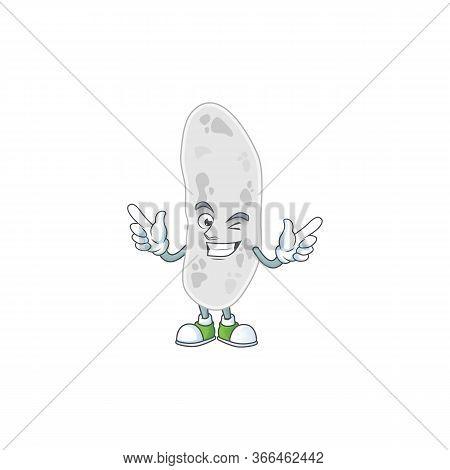 Cartoon Drawing Concept Of Gemmatimonadetes Showing Cute Wink Eye