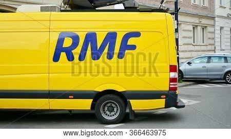 Warsaw, Poland. 15 May 2020. Sign Rmf. Company Signboard Rmf.
