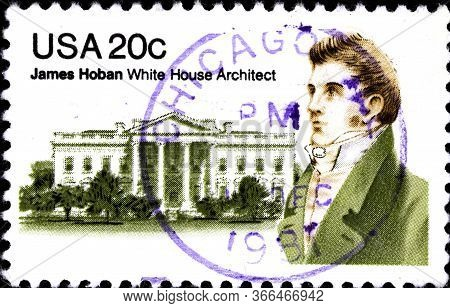 02 10 2020 Divnoe Stavropol Krai Russia Postage Stamp Usa 1981 James Hoban - Irish-american Architec