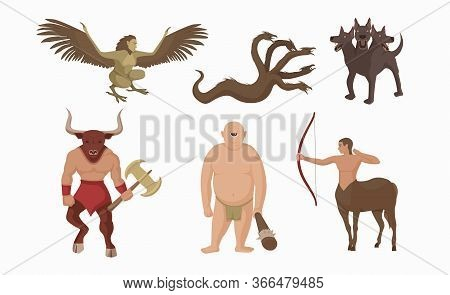 Mythical Creatures Greece. Ancient Greek Mythological Characters