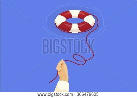 Hand Throws Life Buoy. Illustration Survival In