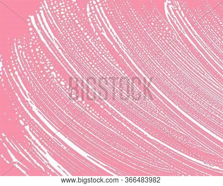 Natural Soap Texture. Admirable Bright Pink Foam Trace Background. Artistic Sightly Soap Suds. Clean