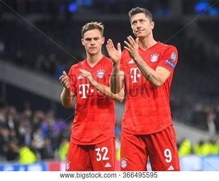 London, England - October 1, 2019: Joshua Kimmich Of Bayern And Robert Lewandowski Of Bayern Picture