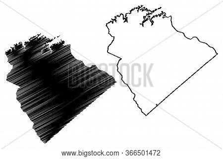 Columbia County, Georgia (u.s. County, United States Of America,usa, U.s., Us) Map Vector Illustrati