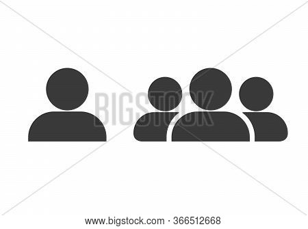 Black Line Users Group Icon Isolated On White Background. Group Of People Icon. Business Avatar Symb