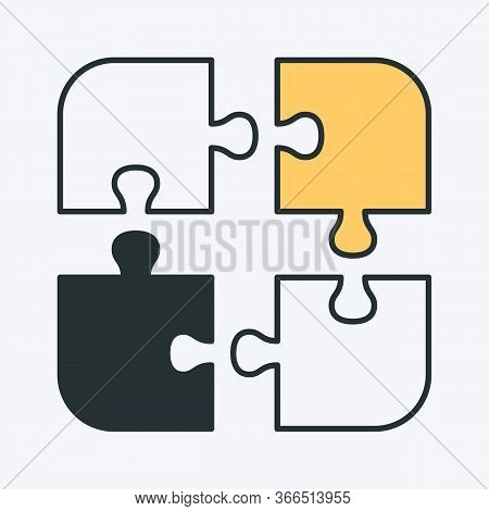 Vector Icon Of An Unsolved Puzzle. Can Be Used As A Logo, Puzzle Icon, Educational And Learning Imag