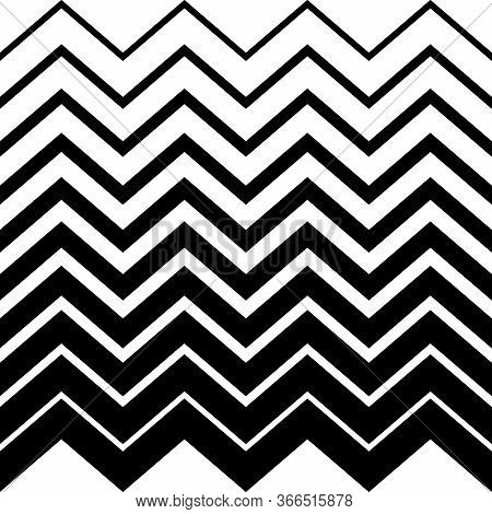 Fashion Zigzag Pattern, Seamless Vector Background. Futuristic Vibrant Design. Geometric Tile In Op
