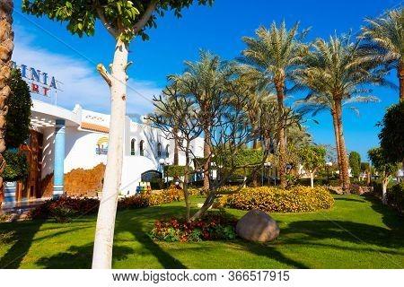 Sharm El Sheikh, Egypt - February 13, 2020: The View Of Hotel Verginia Sharm Resort And Aqua Park 4
