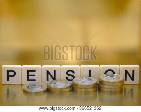 Pension And Retirement Planning Financial Success Concept
