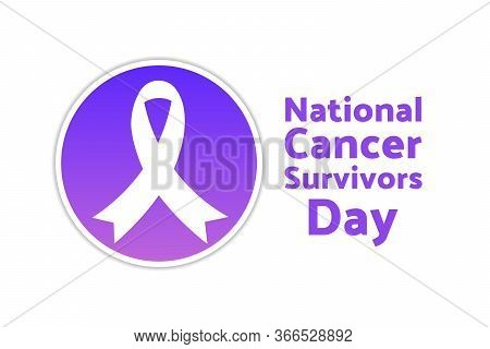 National Cancer Survivors Day. June. Holiday Concept. Template For Background, Banner, Card, Poster
