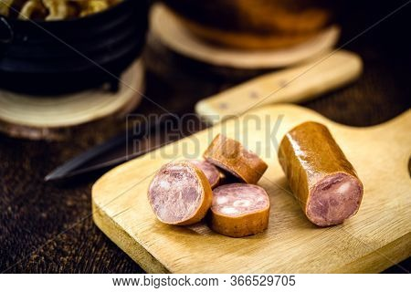 Pepperoni Sausage Is A Type Of Sausage Seasoned With Pepperoni Pepper. It Was Created In Brazil, São