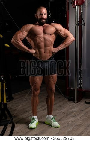 Young Bodybuilder Flexing Back Pose