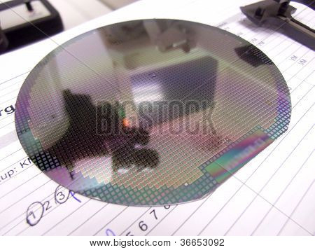 Silicone Wafer And The Tweezers