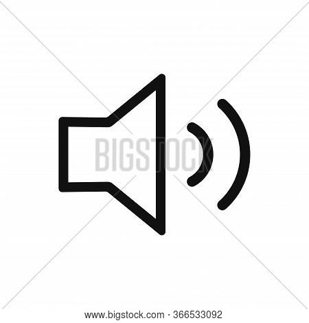 Sound Icon Isolated On White Background. Sound Icon In Trendy Design Style. Sound Vector Icon Modern