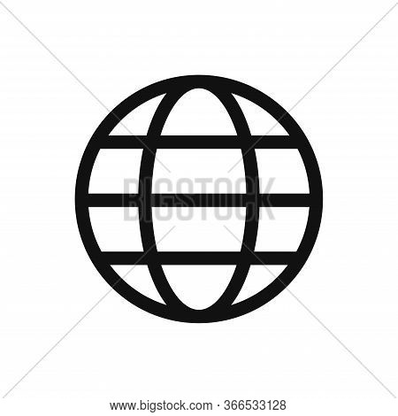 Globe Icon Isolated On White Background. Globe Icon In Trendy Design Style. Globe Vector Icon Modern