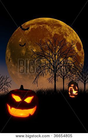 Halloween Pumpkin Moon