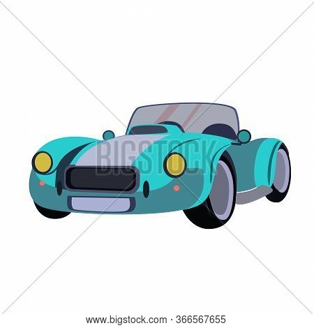 Vector Stock Car Illustration. Passenger Car Made In Cartoon Style. Image Of Baby Car