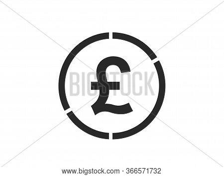British Pound Icon. Isolated Vector Uk Money Symbol. Simple Style Finance Infographic Design Element