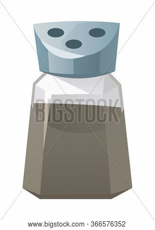 Pepper Shaker Kitchen Object Isolated On White Background Vector
