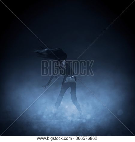 Undead Walking In The Mist,3d Rendering For Book Cover