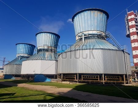 Cooling Tower For Cooling The Treated Water