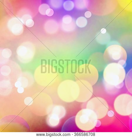 Bokeh As Abstract Coloring Background Of The Plasme