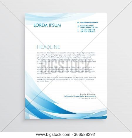 Abstract Blue Letterhead Vector Vector Design Illustration