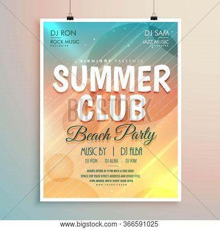 Summer Beach Party Banner Flyer Template Design