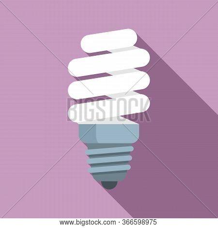 Led Bulb Icon. Flat Illustration Of Led Bulb Vector Icon For Web Design