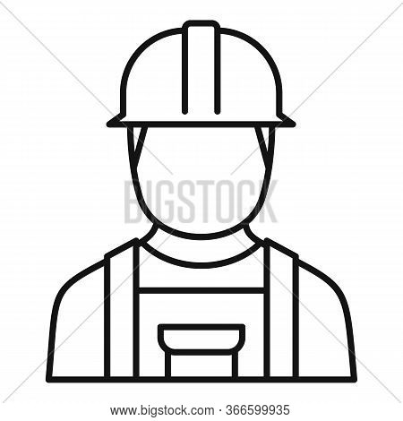 Electrician Man Icon. Outline Electrician Man Vector Icon For Web Design Isolated On White Backgroun