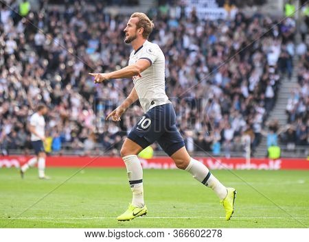 London, England - September 28, 2019: Harry Kane Of Tottenham Celebrates After He Scored The Winning