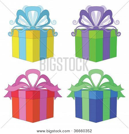 Gift box square, set