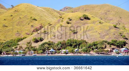 Landscape of Komodo Island, Indonesia