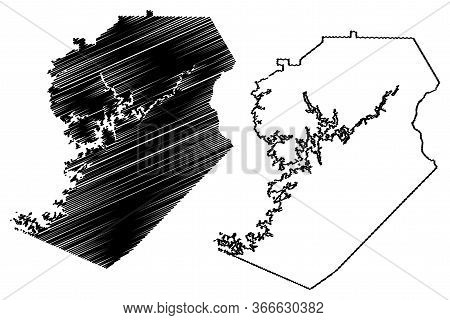 Hall County, Georgia (u.s. County, United States Of America,usa, U.s., Us) Map Vector Illustration,