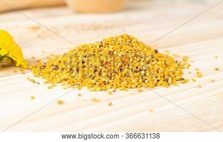 Bee Pollen, Perga, Flower Pollen Grains Or Bee Bread