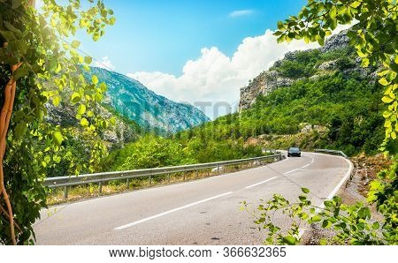 Landscape With The Image Of Mountain Road In Montenegro