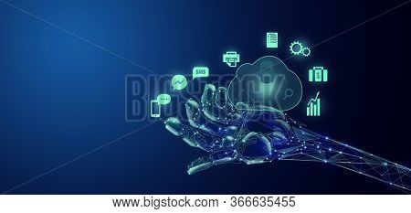 Artificial Intelligence And Machine Learning Concept. Neural Networks And Modern Technologies Concep