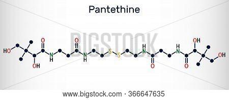Pantethine, O-enzyme Pantethine, Bis-pantethine Molecule. It Is Dimeric Form Of Pantetheine. Is Supp